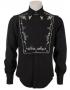 Western Style Black Bib-Front Custom Shirt Worn By Michael (1983)