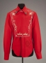 Western Style Red Bib-Front Custom Shirt Worn And Signed By Michael (1983)
