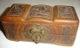 Wooden Jewelery Box W/Note From Neverland Ranch