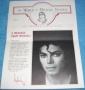 World Of Michael Jackson Newsletter #3 (Spring, 1987)