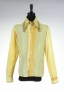 Yellow Long-Sleeve Shirt With Winged Collar And Cuffs Worn By Michael Jackson (1970s)