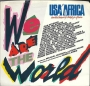 """We Are The World (USA For Africa) Promo 7"""" Single (USA)"""