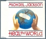 Heal The World (2 mixes + 2) CD Single (UK)